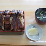 東うなぎ - 料理写真:うな重 超特のごはん大盛り 2600円 (2013.6)