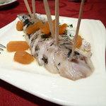スペイン料理レストラン エル・ヴィエント - 鳥取県産 真アジの酢漬け