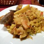 スペイン料理レストラン エル・ヴィエント - 桜えびとタケノコ、アサリのパエジャ