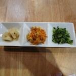 油田カフェ - 前菜3種盛り