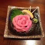 19336662 - タン刺¥1680                       久楽さんのオススメの一つがタン!                       臭みが一切なく綺麗なピンク色をしていて、とろけちゃいます(*^^*)