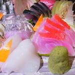 魚の家 - アオリイカ、キンメ、太刀魚、〆鯖