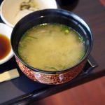 レストラン オーブ - アサリ汁、味噌仕立て