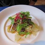 レストラン エヌ.ルトゥール - 国産牛ヒレ肉のサイドのステーキ 粒マスタードソース