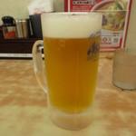 ちゃんぽん亭総本家 彦根駅前本店 - 生ビール(中)