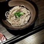 河内鴨と旬菜 雅庵 - コースのゴマ蕎麦