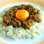 ローブ - ドライカレーリゾット 名古屋コーチンの卵と共に・・・・1050円