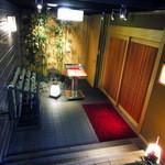 和食波奈 - 階段降りた先の入り口