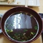 北神餃子 - 北神塩麹からあげ定食(スープ)