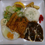キッチン ドンナ・アール - 夜限定 大人のお子様ランチ よくばりプレート(要予約)1550円