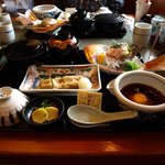 郷土料理 かどや - 宇和島鯛めし&じゃこ天:お茶漬け方式の鯛めしは美味です。