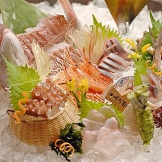 佐渡直送!鮮魚のお造りと海鮮料理