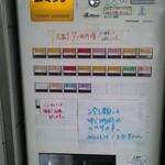 西新井ラーメン - 券売機