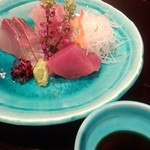 日本料理雲海 - 【初夏の会席】刺身 その日の盛り合わせ 梅肉醤油