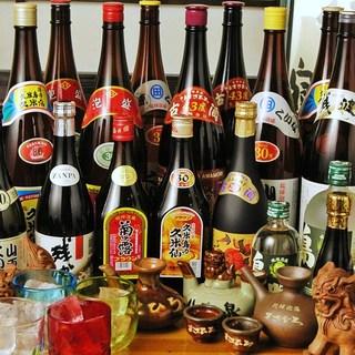 沖縄料理店ならではの様々な種類の泡盛をご用意!