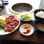 19366143 - 一心亭焼肉定食。