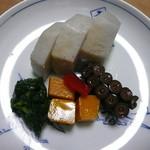 吉兆 - 芋・蛸・南京炊き合わせ