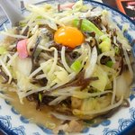 井手ちゃんぽん - 特製ちゃんぽん:880円はキクラゲ+生卵。かつ増量!!