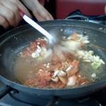 びびこ - 鍋が終わったら「焼き飯」を作ってもらいます
