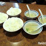 飩餃 - 定食のご飯とスープ
