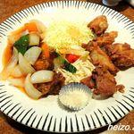 飩餃 - 唐揚げ酢豚の盛合せ