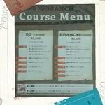 カフェゴーサンブランチ - menuとお店の名刺♪*       画質が悪くてゴメンナサイ(^-^;       アレンジ入れるとだんだん画質が…
