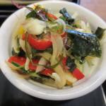 でめてる - でめてる定食についている海藻サラダ。