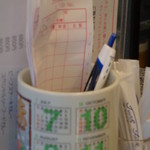 喫茶ラヴェンダー - 伝票入れ