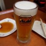 会津屋 - 生ビール(アサヒ)