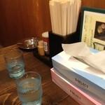 ちゃ~しゅう工房でっかいどう - ちゃーしゅう工房&とりking 京都千本のテーブル卓上(13.06)