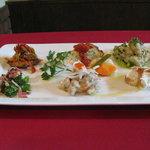 ウロンヤ - 料理写真:前菜の盛り合わせ6種    ¥1360