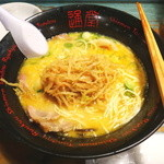 琉球新麺 通堂 - 替玉はもやしナムルで頂きます