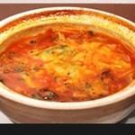 ビストロ カルネジーオ - グツグツテールスープ辛パスタ