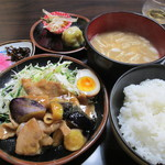 ときわ - 料理写真:豚と茄子味噌炒め 600円