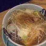 浦ちゃん - 肉豆腐の少し食べたところ