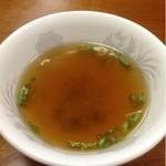 春華楼 - 中華飯についてきたスープ