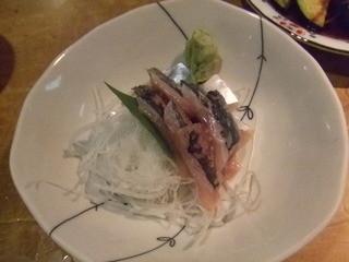 浦ちゃん - アジ刺身