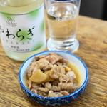 鳥房 - 2013.6 お通しの鶏皮生姜煮