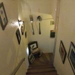 セルフキッチン - この階段を下りたところに・・・