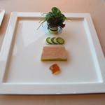 アルゴ - フォアグラのテリーヌ、ポルト酒のジュレ、野菜のブーケ