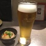 和魂 - 突き出し&ビール