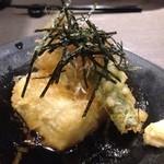 和魂 - 呉豆腐とキノコの揚げ出し