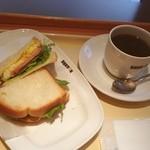 ドトールコーヒーショップ - おはようございます!ハムエッグセット380円^_^