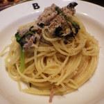 19389914 - チキンとからし菜のアーリオオーリオ