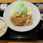 山田屋食堂 - 生姜焼き定食 850円