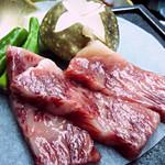 武蔵坊 - 料理写真:前沢牛ステーキ