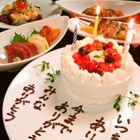 さんきゅう - メッセージ入りホールケーキ