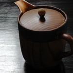 19398139 - そば湯(木製の器です)