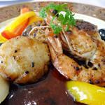 シエ・ワシズ - Cコースの魚介料理