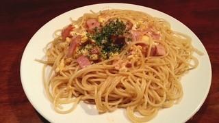 SPAGO - ベーコンとタマゴのスパゲティ大盛り 2013.6